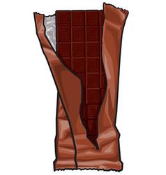 Dark chocolate bar vector