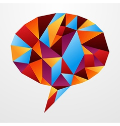 Diversity origami speech bubble isolated vector