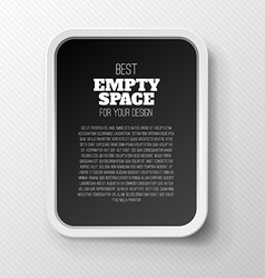 Empty frame concept vector image