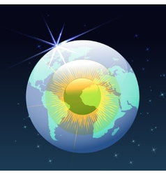 eyeball globe in space vector image