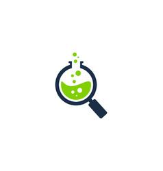 find science lab logo icon design vector image