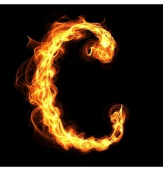 Fire alphabet letter C vector