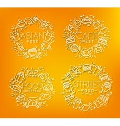 Food monograms orange vector image