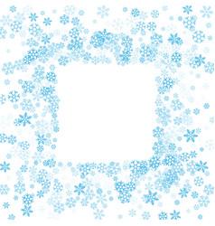 frame or border of random scatter snowflakes vector image