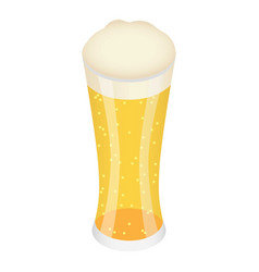 glass of yellow beer icon isometric style vector image