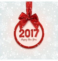Happy New Year 2017 round banner vector