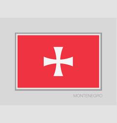 Historical montenegrin flag national ensign vector