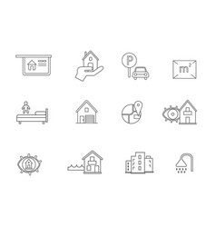 Houses icon set vector