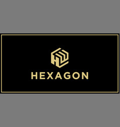 hw hexagon logo design inspiration vector image