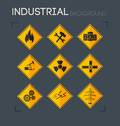 Industrial icons collection vector