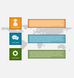 infographic template with square blocks vector image