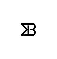 initial k and b logo design concept vector image