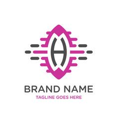 initial logo design technology h vector image