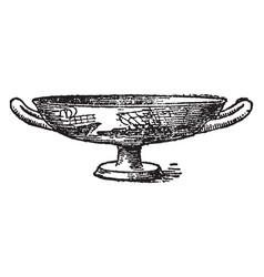Kylix is the pottery of ancient greece vintage vector