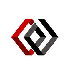 Letter c e modern vector
