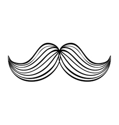 Male mustache design Barber icon graphic vector image