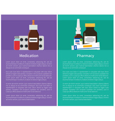 Medication and pharmacy items vector