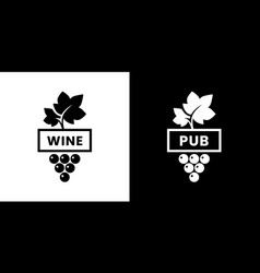 modern wine isolated logo sign for pub tavern vector image