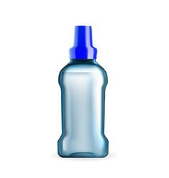 Mouthwash hygiene liquid blank package vector
