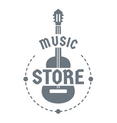 Music store logo simple style vector