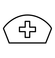 Nurse hat isolated icon design vector
