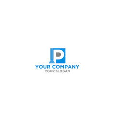 P law firm logo design vector