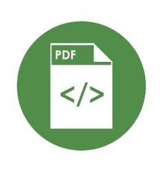 pdf file icon vector image