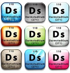 Periodic darmstadtium vector