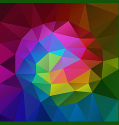 polygonal square background rainbow spectrum vector image
