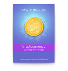 Poster with advertisement virtual currency vector