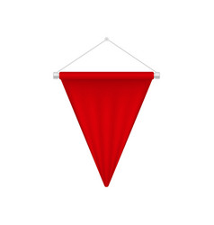 realistic red pennant template triangle blank vector image