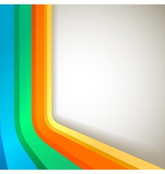 Retro colorful banner vector