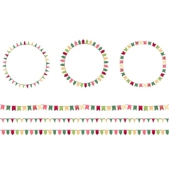 Round festive frames with flags endless vector image