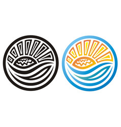 sea and sun vector image