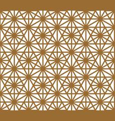 seamless pattern based on ornament kumiko vector image