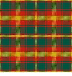 Seamless pattern Maple Leaf Canadian tartan vector
