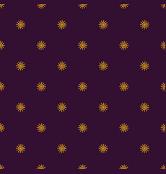 seamless symmetric pattern of snowflakes on a dark vector image