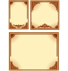 Set of retro frames vector image