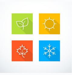 Set season icons vector