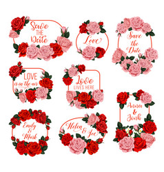 springtime flowers frames for wedding vector image