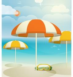 Summer seaside vacation vector image vector image
