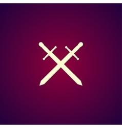 sword icon beautiful vector image