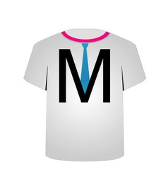 T Shirt Template- letter M vector