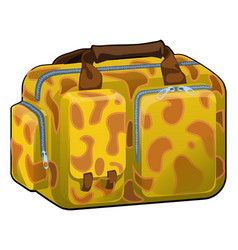 travel bag with texture on a theme of giraffe vector image