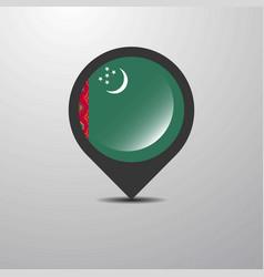 Turkmenistan map pin vector