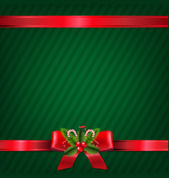 vintage green christmas wallpaper vector image