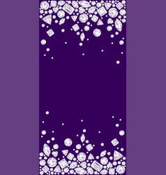 Violet background with two diamond borders vector