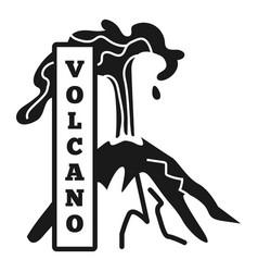 Volcano peak eruption logo simple style vector