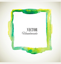 watercolor-frame-green-one vector image