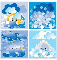 Weather season vector